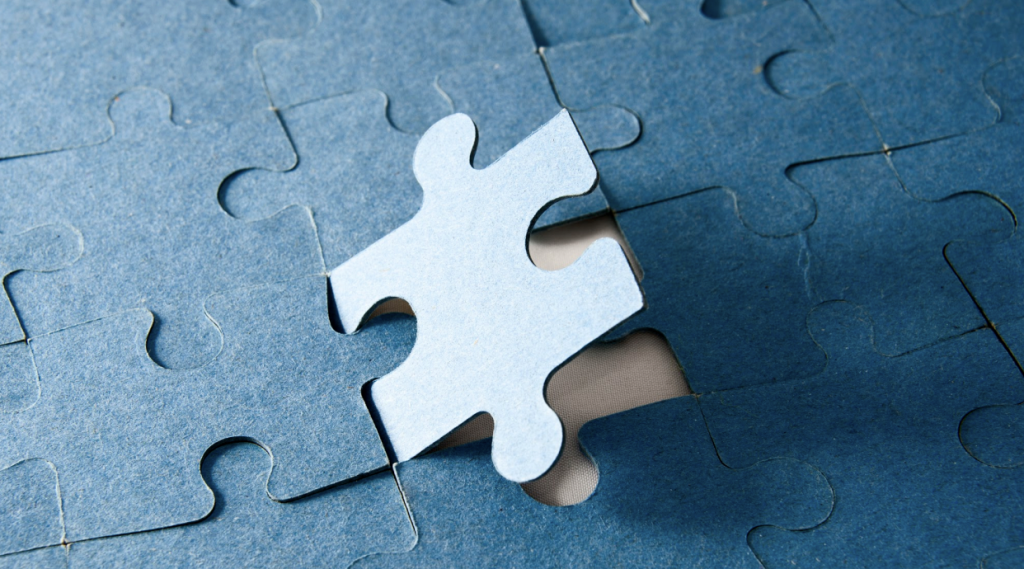 Puzzle piece completing a puzzle like Arcina completes the puzzles of claims for their clients
